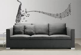 Amazon Com Stickerbrand Music Vinyl Wall Art Saxophone W Music Notes Wall Decal Sticker 72 X 31 You Pick The Color Automotive