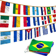 Anley 12 In X 18 In Latin America 20 Countries String Flags Assorted Latino Flag Banners For International Events A Flag String Latino The Home Depot