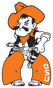 12 Oklahoma State Standing Pistol Pete Decal Wesellspirit Com
