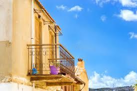 Balcony With Wrought Iron Fence Rethymno Crete Stock Photo Image Of Design Plants 94092850