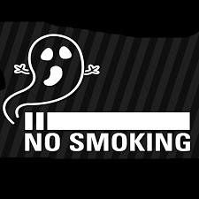 15 9 4cm No Smoking Ghost Vinyl Decal Sticker Window Anti Smoke Warning Slogan Modern Decal Car Sticker Car Stickers Aliexpress