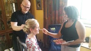 bridal hair makeup trial run