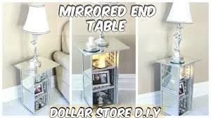 dollar tree mirrored end table tutorial