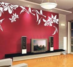 Lily Flower Leaf Flowers Vinyl Wall Decal Sticker Art Home Murals House Tv Set Wall Decals Stickers On Luulla