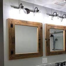 recessed barn wood medicine cabinet