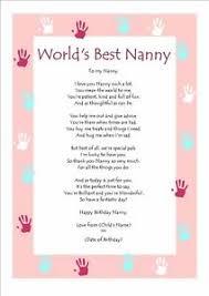 personalised birthday poem keepsake for