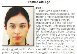 old age se makeup instructions