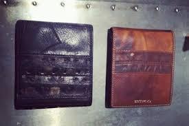 recycled vintage baseball wallets