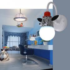 Monkey Giraffe Zebra Sconce Light Hallway Kids Room Plastic Single Head Wall Lighting In Multi Color Takeluckhome Com