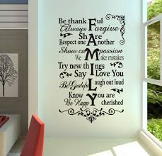 Home Garden Decor Decals Stickers Vinyl Art Family Rules Wall Decal Quote Love One Another Bible Verses Bedroom Decor Ky69