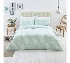 argos home duck egg geo bedding set