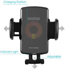 YOUSTOO Wireless Car Charger Mount, Qi Fast Wireless Charging ...