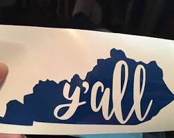 Kentucky Car Decal Etsy