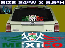 1 Mexican Mexico Flag Decal Vinyl Sticker Hecho En Mexico Ebay
