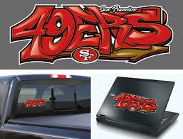 San Francisco 49ers Graffiti Vinyl Vehicle Car Laptop Yeti Sticker Decal 5 00 Picclick