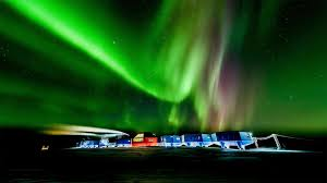 southern lights for antarctica day by
