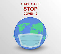 Globe Wearing Mask to Stay Safe from COVID-19 - Download Free ...