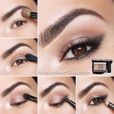 natural eye makeup for dark brown eyes