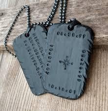 black personalized necklace pendant