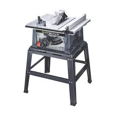 Genesis 15 Amp 10 In Table Saw With Self Aligning Rip Fence Sliding Miter Gauge 40t Blade And Heavy Duty Metal Stand Gts10sb The Home Depot