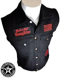 tm denim biker vest with custom patch