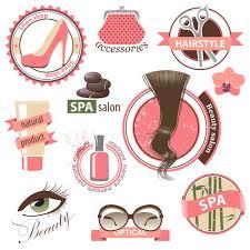 creative makeup logos and labels vector