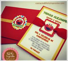 Tarjeta Invitacion Elmo Invitaciones Elmo Tarjetas De