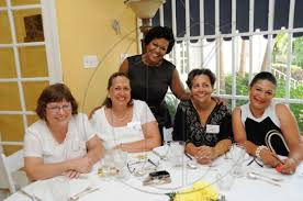 Go Jamaica Photo Gallery | American Womens' Club Luncheon | Ricardo  Makyn/Staff Photographer. The beautiful Tammie Parnell (standing) with  members of the American Women's Group (AWG) seated from left:: Leslie Wan,  Janette
