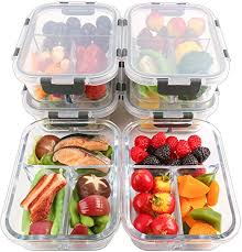 packs glass meal prep containers