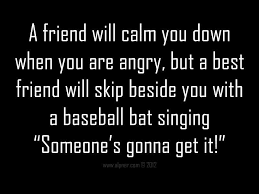 funny quotes a friend will calm you down when you are angry but