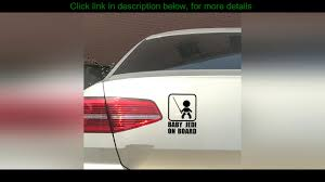 Best 1pc Seeyule Baby Jedi On Board Car Stickers Creative Funny Cute Vinyl Decal Car Styling Trunk Youtube