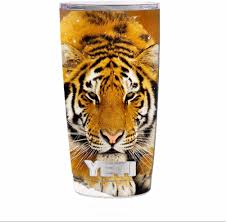 Amazon Com Skin Decal Vinyl Wrap For Yeti 20 Oz Rambler Tumbler Siberian Tiger Kitchen Dining