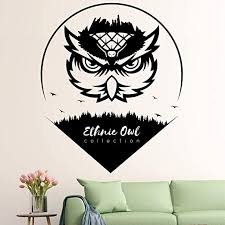 Amazon Com Vodoe Owl Wall Decal Personalized Wall Decal Forest Baby Boys Girls Kids Nursery Animal Bird City Word Stickers Suitable For Family Living Room Vinyl Art Home Decor Black 21 6 X 25 5 Inches