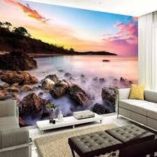 شمس البحر حجر الرؤية خلفيات جدارية المنزل الفن جدار ديكور جدار