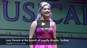 Lucy Durack at the Legally Blonde ...