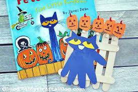 Five Little Pumpkins Kid Craft Idea