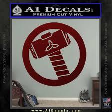 Thor S Hammer Mjolnir Vinyl Decal Sticker A1 Decals