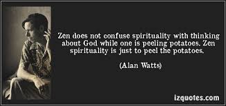 zen does not confuse alan watts a pondering mind