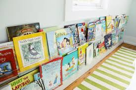 Kids Room With Wall To Wall Stacked Acrylic Book Ledges Transitional Girl S Room