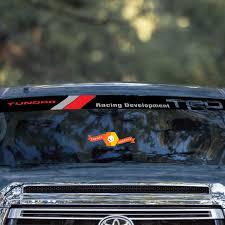 Toyota Trd Tundra Racing Development Vintage Old Style Logo Windshield Sticker Decal Sun Strip Visor Windscreen