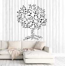 Amazon Com Vinyl Wall Decal Molecules Tree Science Atoms Scientific Art Stickers Mural Large Decor Ig5013 Orange Home Kitchen