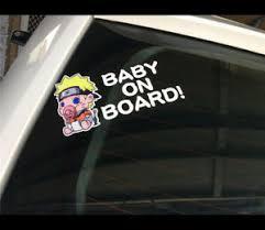 Cute Funny Naruto Baby On Board Warning Diy Car Decal Vinyl Sticker Ebay