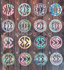 Lilly Pulitzer Inspired Greek Letters Decal Sorority Decal Greek Dec Slrustic