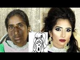 shocking before and after bridal makeup