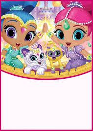 Shimmer And Shine Party Invitation Card 731x1024 Invitaciones De