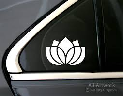 Lotus Flower Decal By Salt City Graphics