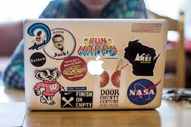 Uw Students Laptop Stickers Show Off Their Personalities
