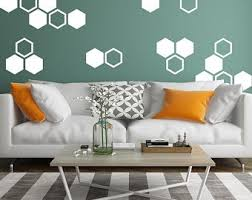 Honeycomb Wall Decal Etsy