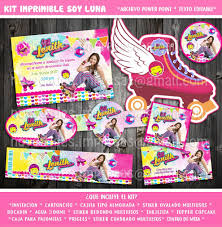Kit Digital Soy Luna Editable Invitacion Cumpleanos Fiesta 65