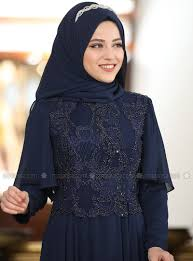 unlined crew neck muslim evening dress